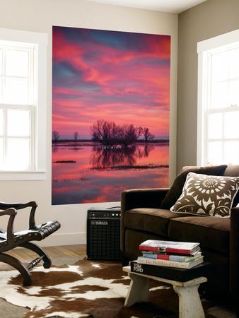 Sunset at Merced Wildlife Area