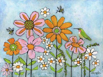 Hummingbird and Bees