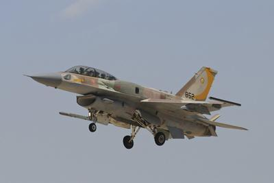 An Israeli Air Force F-16I Sufa Prepares for Landing
