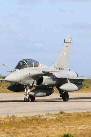 French Air Force Rafale B Taxiing at Natal Air Force Base, Brazil