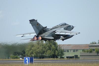 Tornado Ecr of the German Air Force Taking Off from Lechfeld Air Base