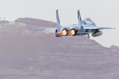 An Aggressor F-15C Eagle of the U.S. Air Force Taking Off