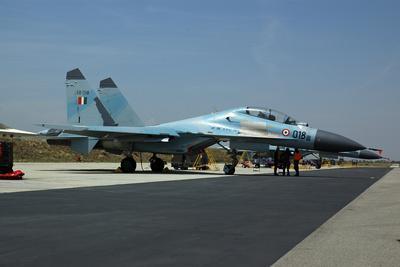 Sukhoi Su-30 Aircraft from the Indian Air Force at Istres Air Base