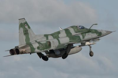 Brazilian Air Force F-5 Taking Off from Natal Air Force Base, Brazil