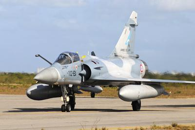 French Air Force Mirage 2000 Taxiing at Natal Air Force Base, Brazil