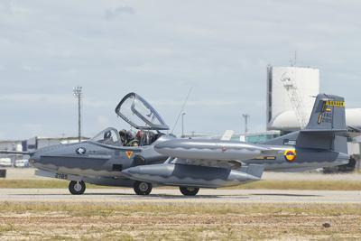 Colombian Air Force A-37 Dragonfly at Natal Air Force Base, Brazil