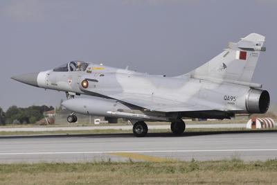 A Mirage 2000-5Eda of the Qatar Emiri Air Force Landing at Konya Air Base
