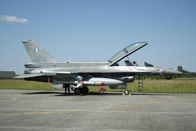 F-16D from the Hellenic Air Force Armed with Agm-88 Harm Missile