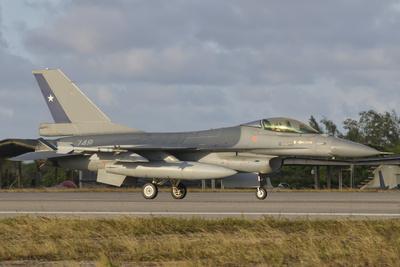 Chilean Air Force F-16 at Natal Air Force Base, Brazil