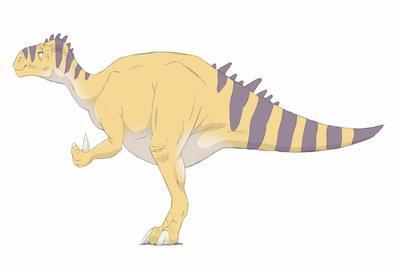 Iguanodon Pencil Drawing with Digital Color