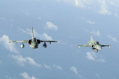 Brazilian Air Force A-1M (Left) and F-5Em Taken In-Flight During Exercise Cruzex