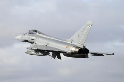 Spanish Air Force Eurofighter Ef2000 Typhoon Taking Off