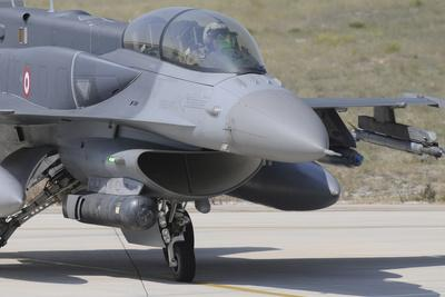 A Turkish Air Force F-16D Block 50+ at Konya Air Base, Turkey
