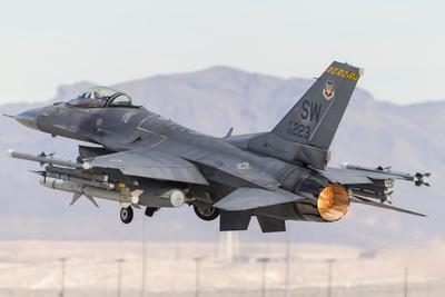 A U.S. Air Force F-16C Fighting Falcon Taking Off
