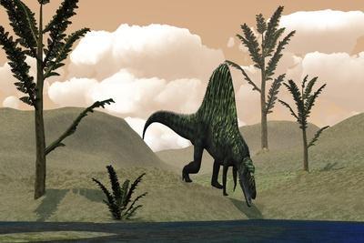 Arizonasaurus Dinosaur Amongst Pachypteris Trees