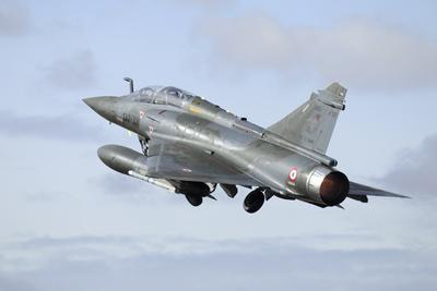 French Air Force Mirage 2000D Taking Off with Full Afterburner