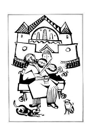 Violinist (Illustration for the Ukrainian Fairytales)