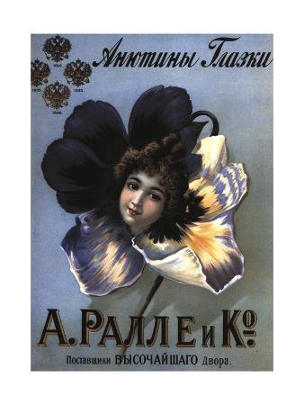 Advertising Poster for the Perfumes Ralle