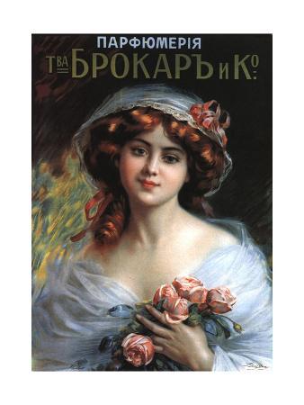 Advertising Poster for the Perfumes Brocard