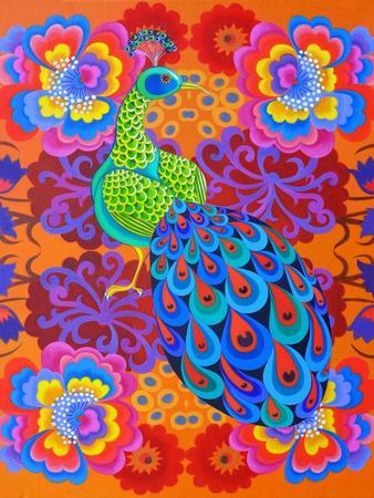 Peacock with Flowers, 2015