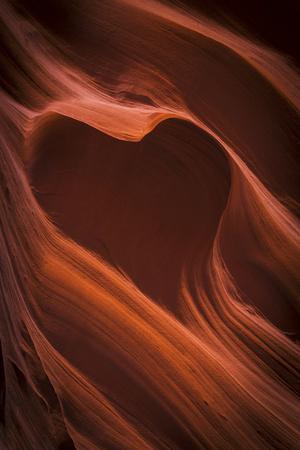 Arizona, Canyon X. Heart Shape in Eroded Sandstone Rock