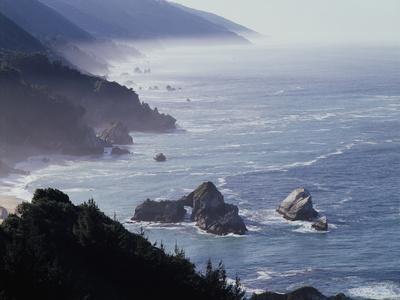 California, Big Sur Coast, Sea Stacks Along the Central Coast