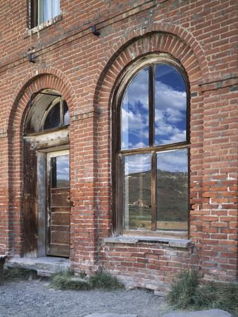 California, Bodie State Historic Park, Reflections in a Window