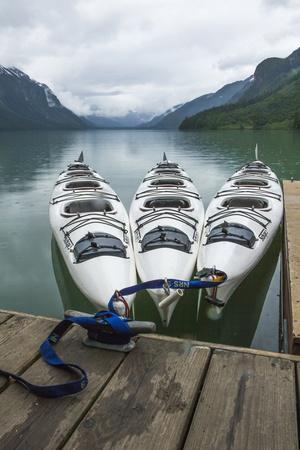 Chilkoot Lake, Kayaks at the Dock Haines, Alaska