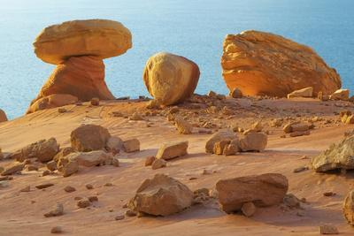 Arizona, Lake Powell. Rock Formations at Padre Bay