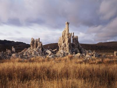 California, Sierra Nevada, Tufa Formations Along Mono Lake