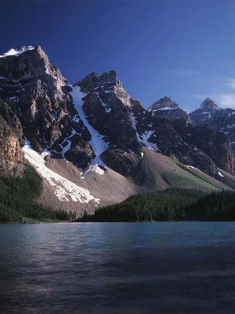Banff National Park, Mountain Peaks and the Glacial Water of Moraine Lake