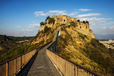 Evening View of Civilta Di Bagnoregio and the Long Bridge
