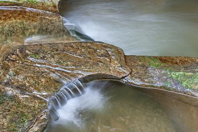 Close Up of Potholes, at Fall Creek Gorge, Warren County, Indiana