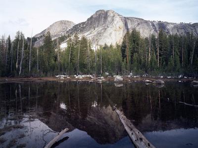 California, Sierra Nevada, Yosemite National Park, Mts Reflecting in a Tarn