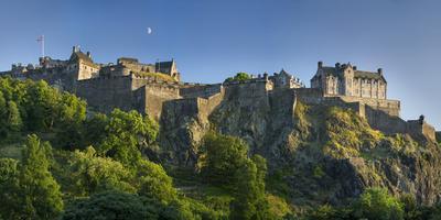 Evening Below Edinburgh Castle, Edinburgh, Lothian, Scotland
