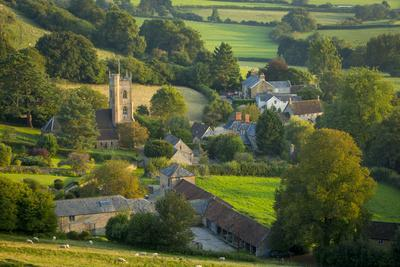 Evening Sunlight over Corton Denham, Somerset, England