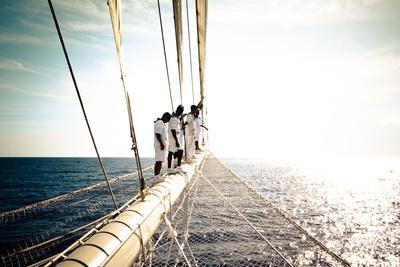 Star Clipper Sailing Cruise Ship, Deshaies, French Caribbean, France
