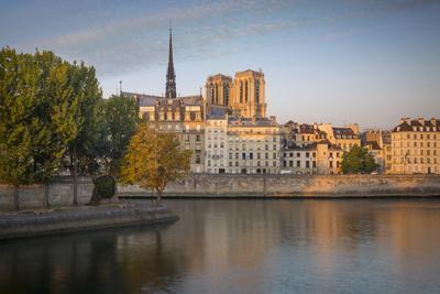 Sunrise over Cathedral Notre Dame and Ile De La Cite, Paris, France