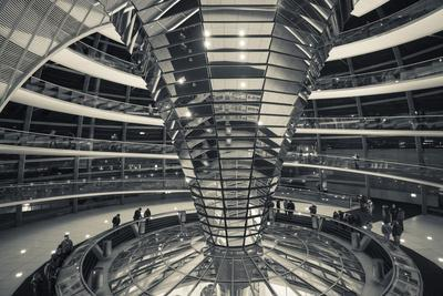 Germany, Berlin, Reichstag, Dome Interior, Evening