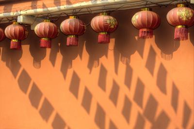Chinese Lanterns in Kunming Ethnic Minorities Village Park, China