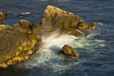 Surf and Rocks, Rocky Creek Area, Big Sur, California, USA