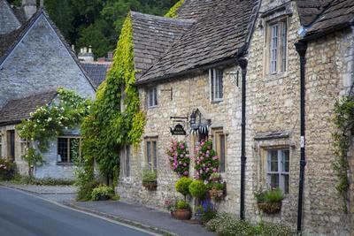 High Street, Castle Combe, the Cotswolds, Wiltshire, England