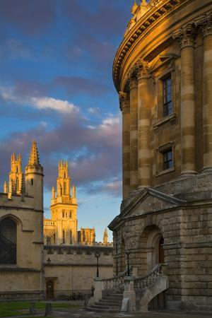 Sunset on Radcliffe Camera and All Souls College, Oxford, England