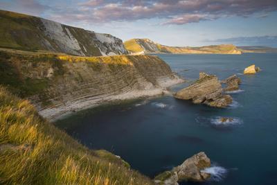 Sunset over Mupe Bay Along the Jurassic Coast, Dorset, England