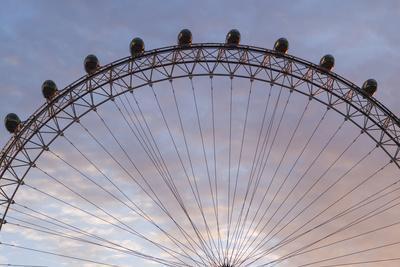 England, London, London Eye, Sunrise