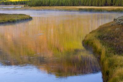 Wyoming, Yellowstone National Park. Morning on the Madison River