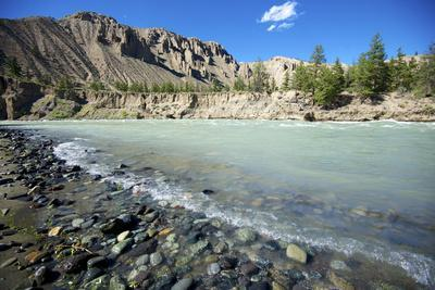 Nature Lanscape with Chilcotin River in Grasslands, Canada