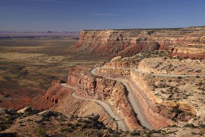 Utah, San Juan County, Moki Dugway Switchback Road, Cedar Mesa
