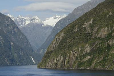New Zealand, Fiordland National Park, Milford Sound. Scenic Fjord