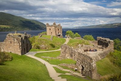 Urquhart Castle Along the Shores of Loch Ness, Highlands, Scotland